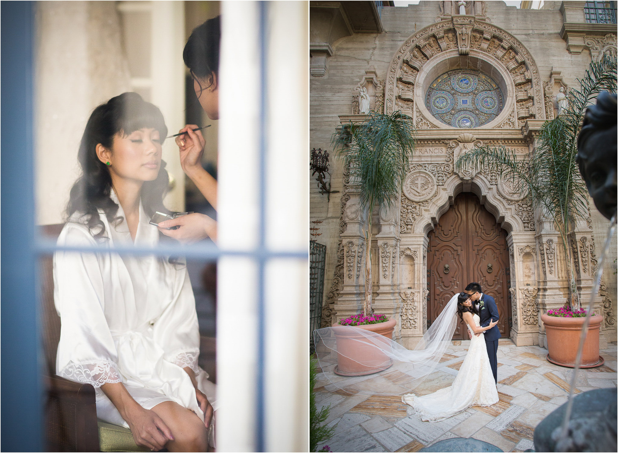 Mission Inn Riverside Wedding | Los Angeles Wedding Photographer St Francis Of Assisi Chapel Mission