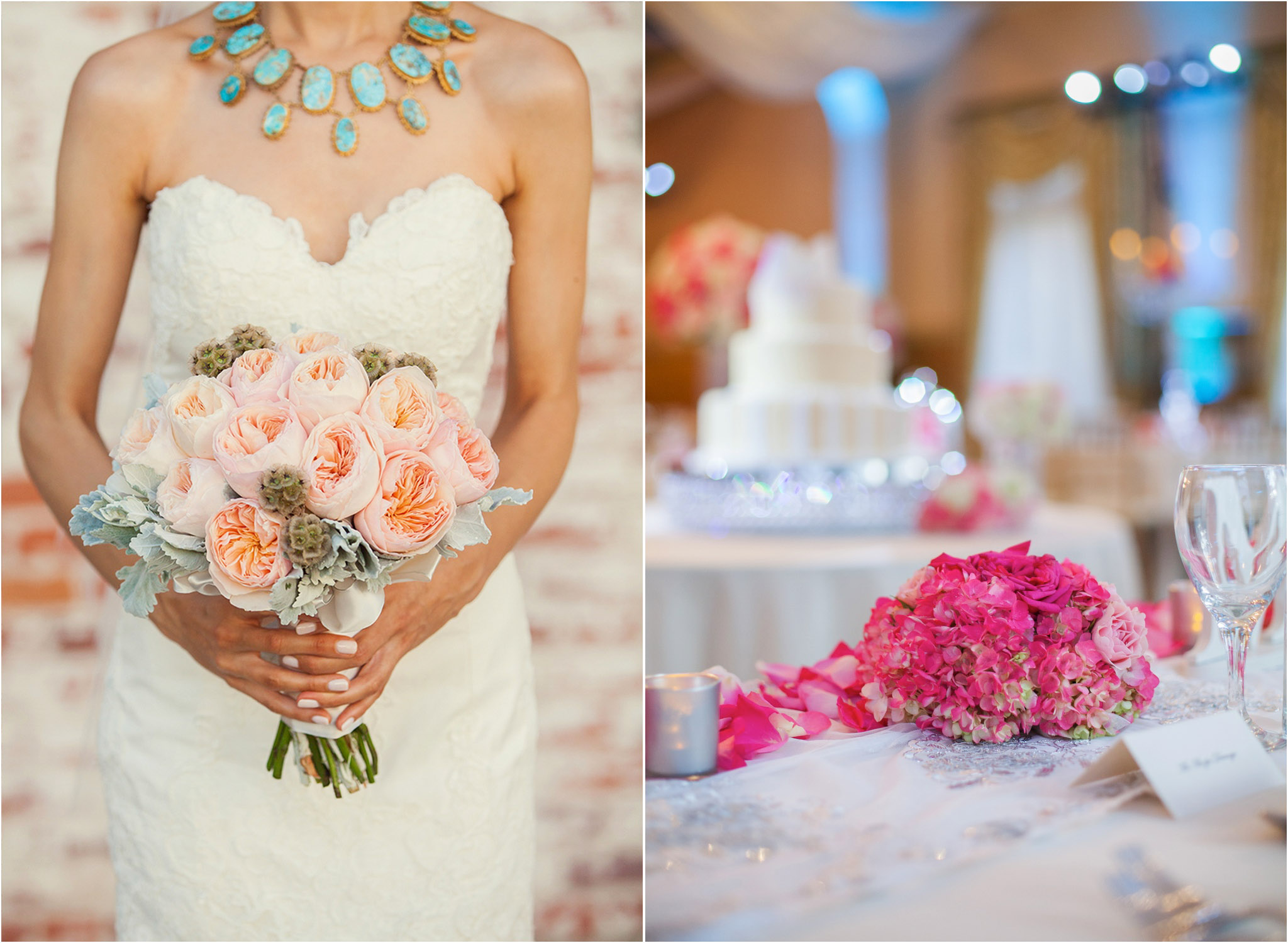 los angeles wedding photography pink wedding flowers pink reception decoration 05