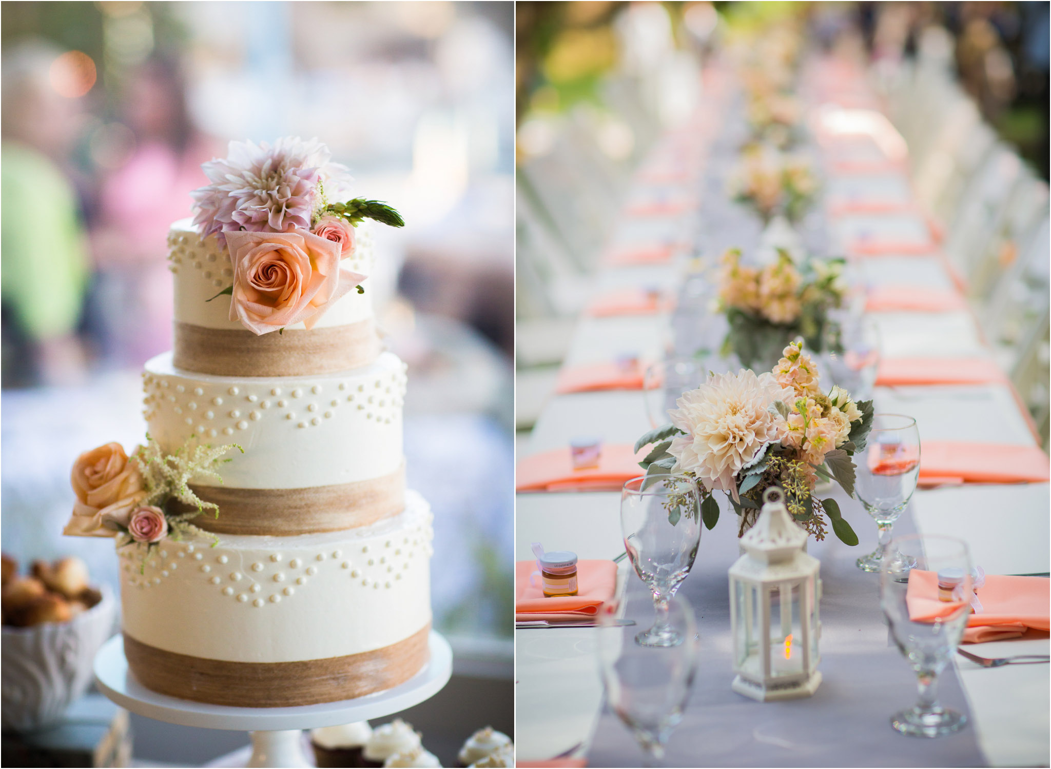Orange County Wedding Photography Beautiful Cake Long Reception Table 22