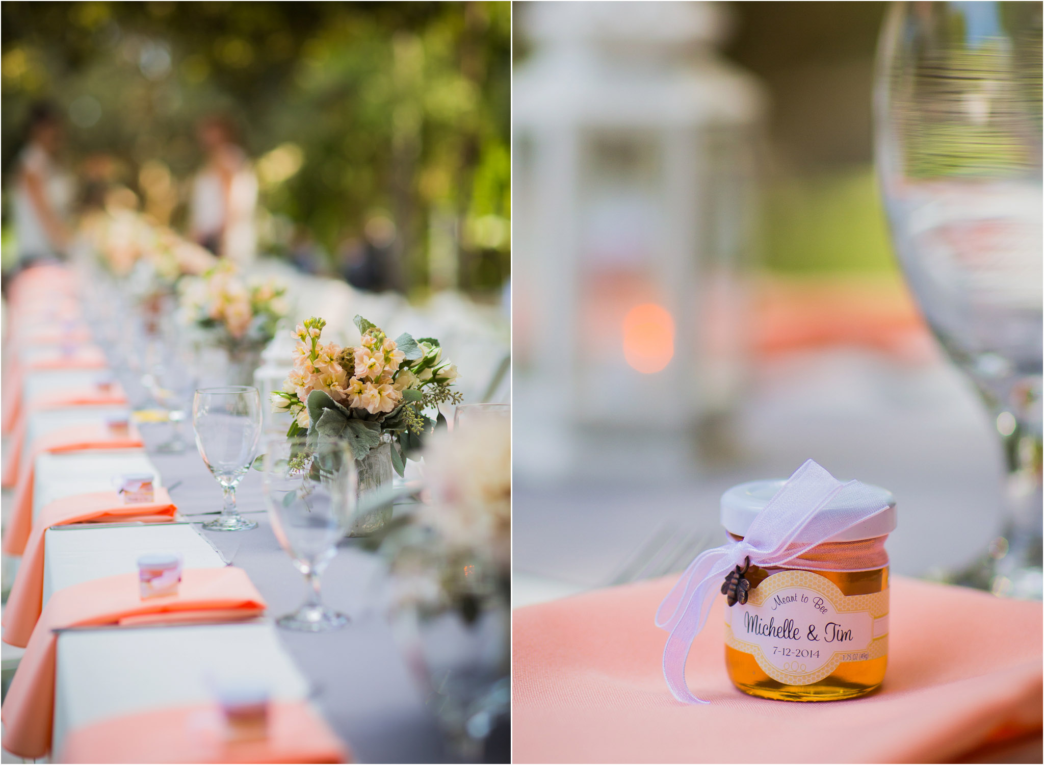 Orange County Wedding Photography Guest Favors Honey Long Reception