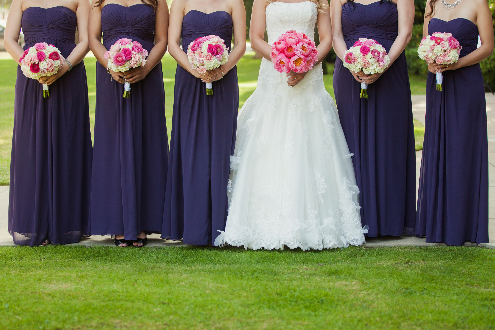 Orange County Wedding Photography Purple Bridesmaids Dresses Pink ...