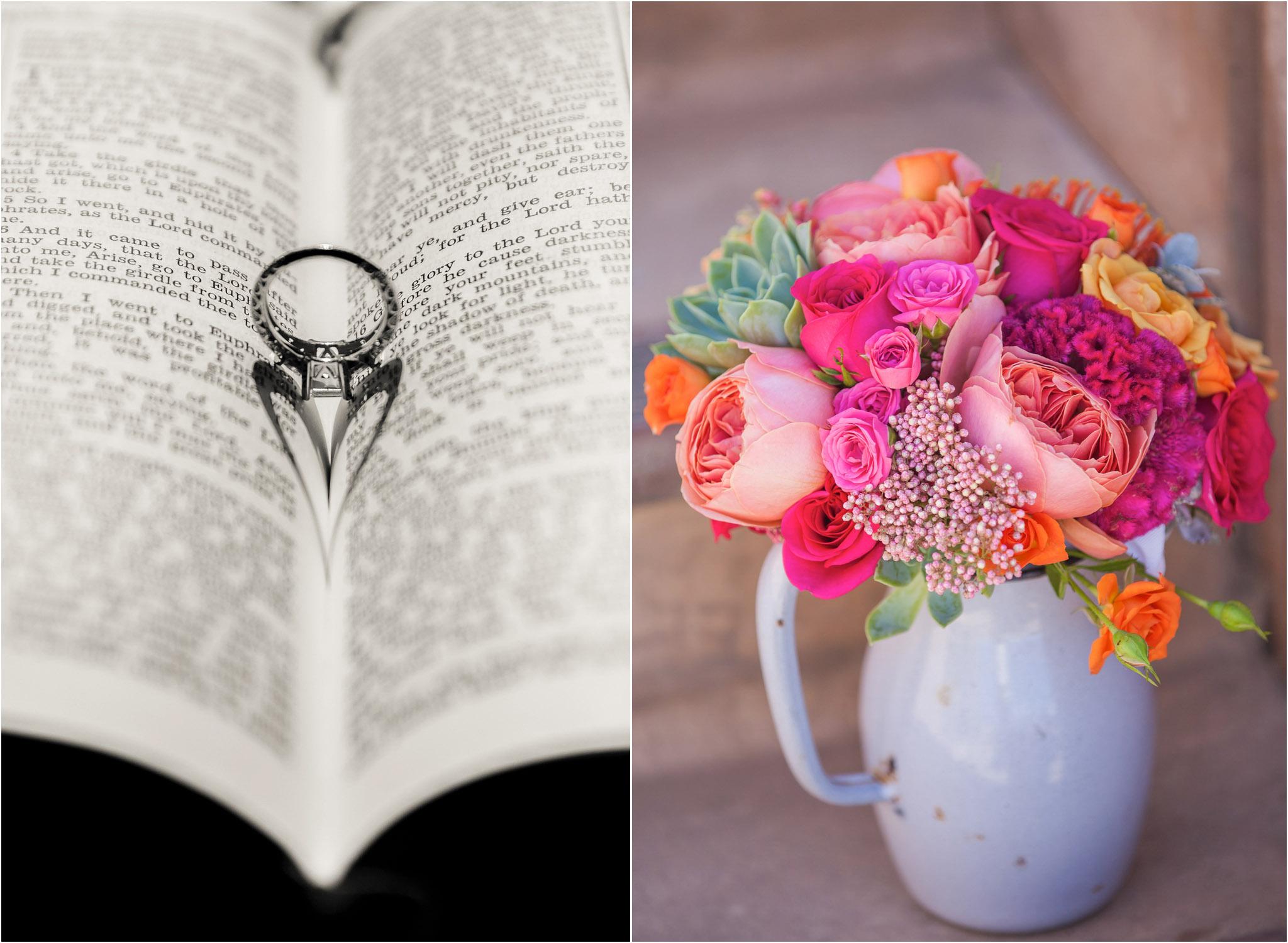 San Diego Wedding Photography Bible Wedding Ring Heart Pretty Pink
