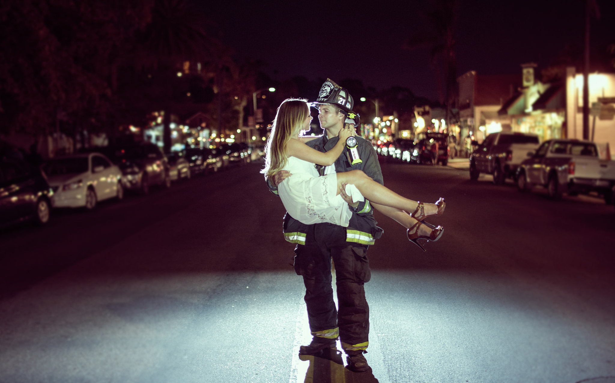 San Diego Wedding Photography Old Town Engagement Firefighter Beautiful Girl