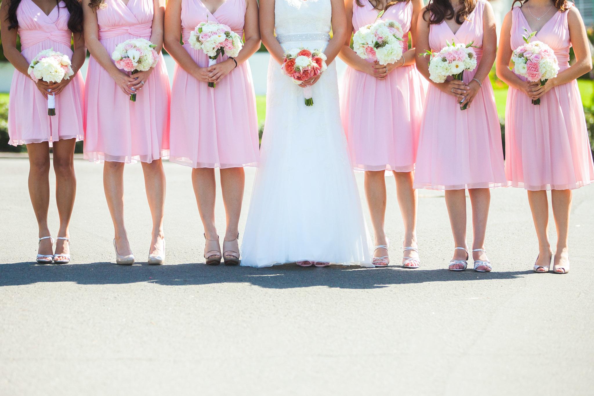 Bridesmaid Dresses San Diego | San Diego Wedding Photography Pink Bridesmaids Dresses 14 Wedding