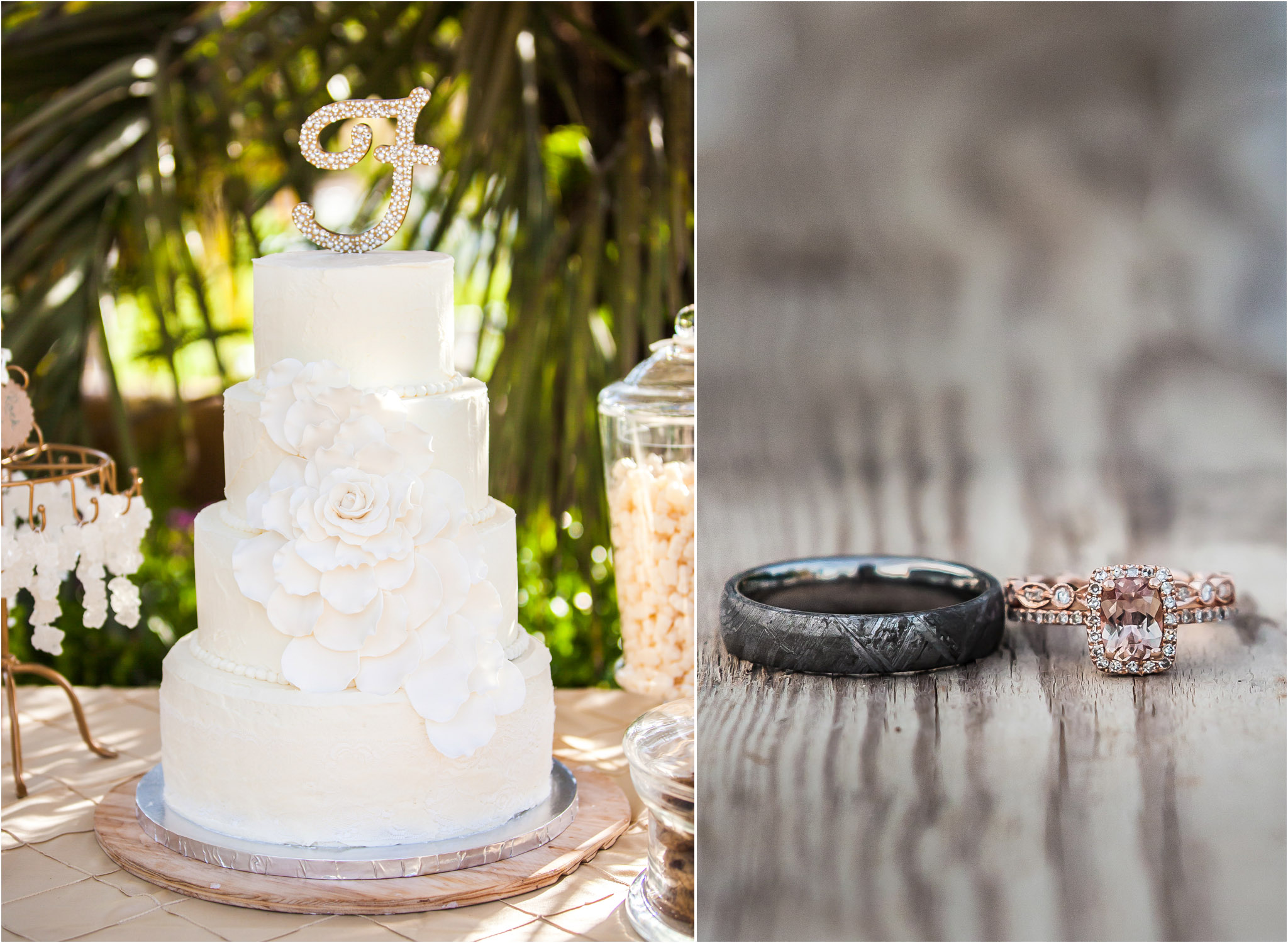 San Diego Wedding Photography Rustic Wedding Rings White Wedding Cake 11